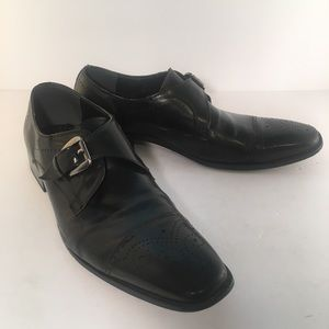 Stacy Adams KIMBALL Monk Strap Black Leather Shoes